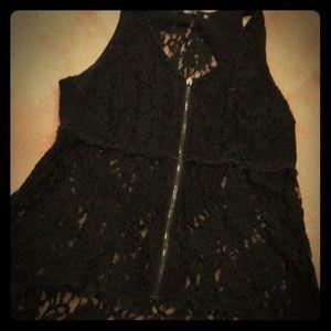 BKE zip up - black lace
